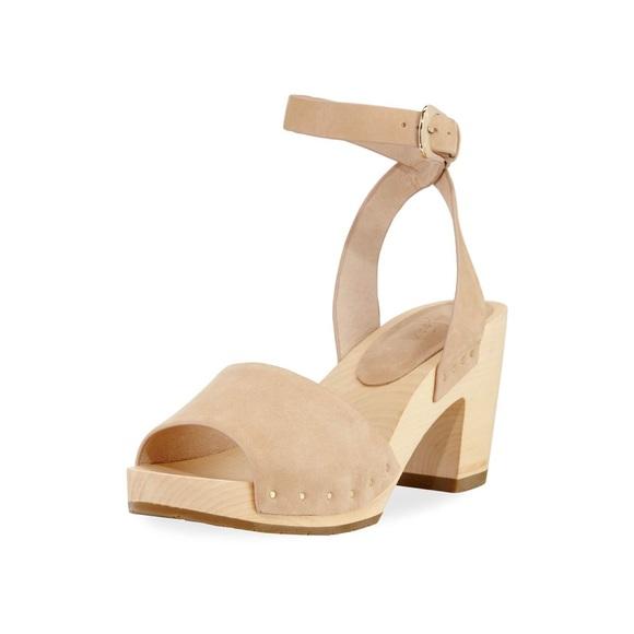 c187aabb8ed9aa NWOB-Joie Nubuck Saber Platform Clog Sandals SZ 9
